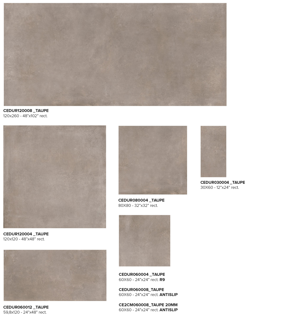 Size Taupe
